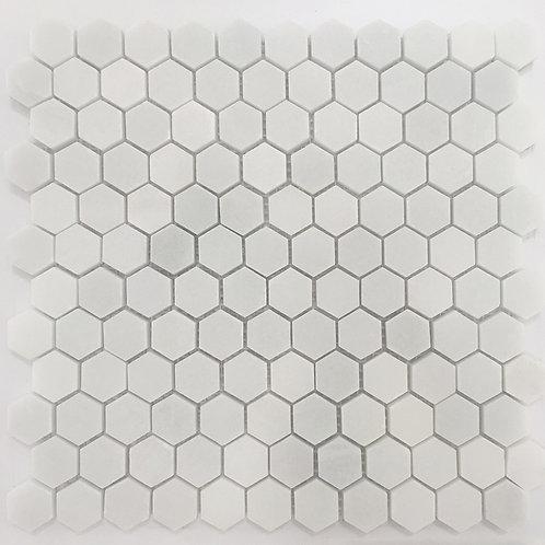 Hexagon Snow White Honed