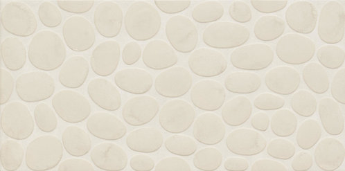 With a continuous pattern and minimal grout lines, this alternative to natural stone pebble mosaic