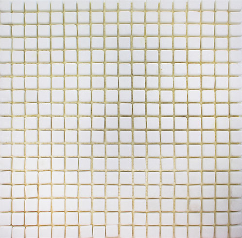 Bianco Thassos 5/8 X 5/8 Tumbled Mosaic
