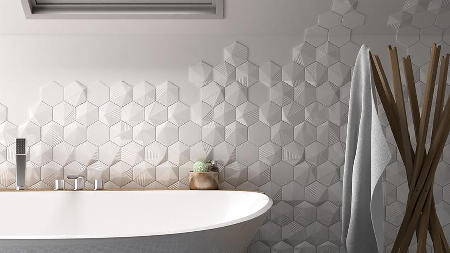 Hexagon White Brillo & 3D Umbrella