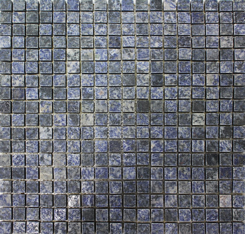 Azul Bahia blue granite marble mosaic.  Can be installed on floors and walls when you need durability but want luxury