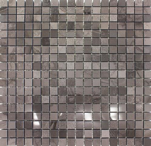Guizhou timber dark polished mosaic limestone tile