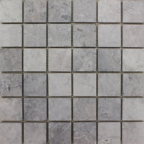 Temple Grey marble 2x2 Tumbled