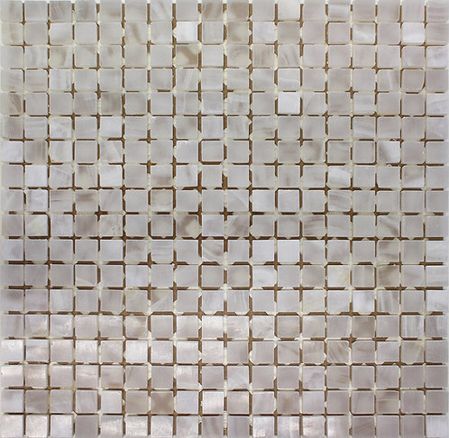 Pure White onyx polished mosaics full piece