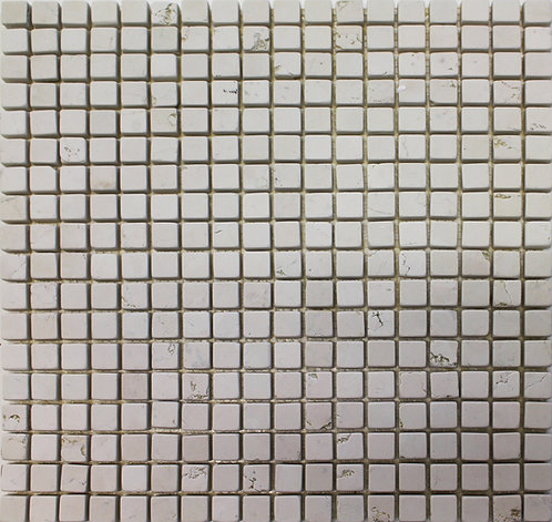 Bianco Perlino 5/8 X 5/8 Tumbled Mosaic