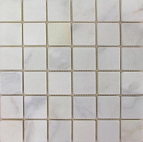 Calacatta 2X2 Tumbled Marble