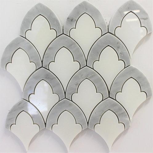 Chapel Carrara & White 10x10 Polished