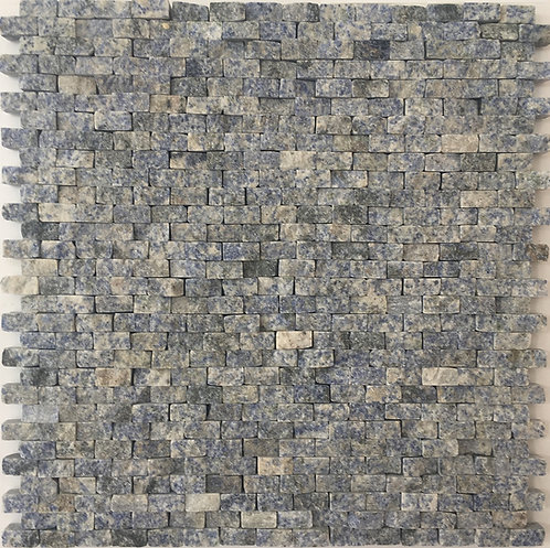 Azul Bahia splitface granite mosaic is the epitome of texture and depth of colour