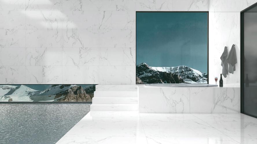 Italian Carrara White Polished Install.jpg
