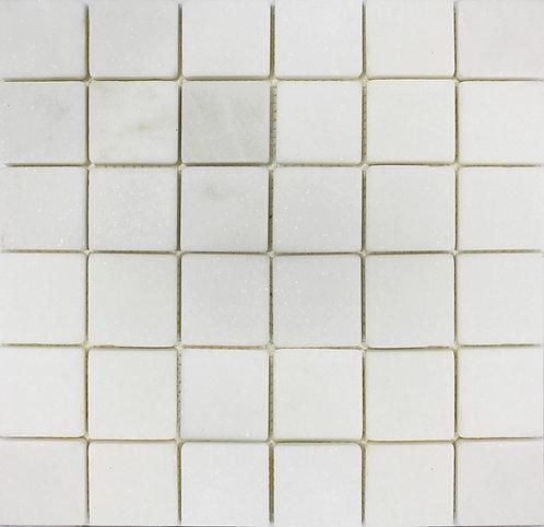 Bianco Thassos 2X2 Tumbled Marble