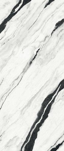 Slab Versace Maximvs Panda White stunning white porcelain slab with bold black veining
