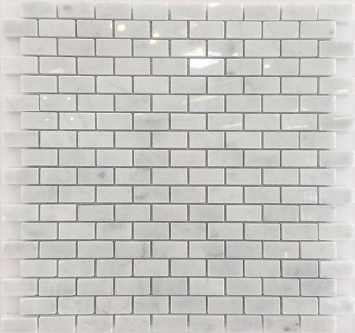 Brick Joint Bianco Carrara Polished