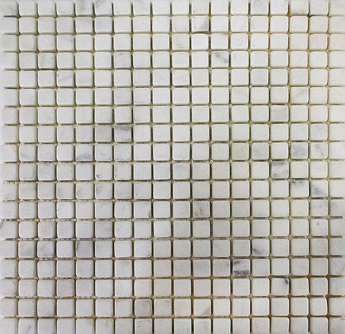 Sino Carrara tumbled 15mmx15mm mosaics full sheet
