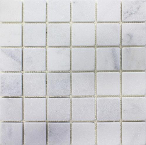 Bianco Carrara 2X2 Tumbled Marble