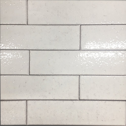 Crafted Brick Chantilly Lace a pretty, soft white subway tile made of ceramic for wall installations only