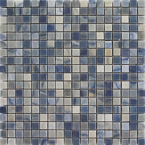 Azul Macaubas blue quartzite mosaic a rare and prestigious stone for those who want to add a little luxury to their home.