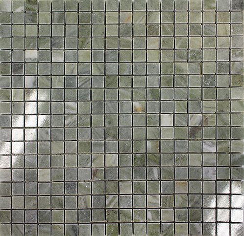Verde Laguna polished mosaic marble