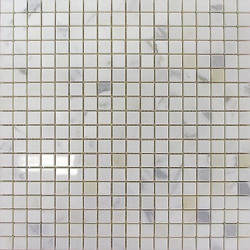 Calacatta 5/8 X 5/8 Polished Mosaic