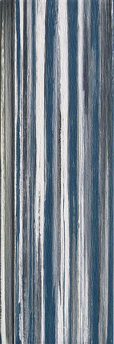 a large vibrantly striped blue ceramic tile that will add character & colour to your shower walls, bathroom walls, backsplash