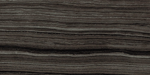 Studio Eramosa Black Polished big porcelain tile that looks like vein cut travertine