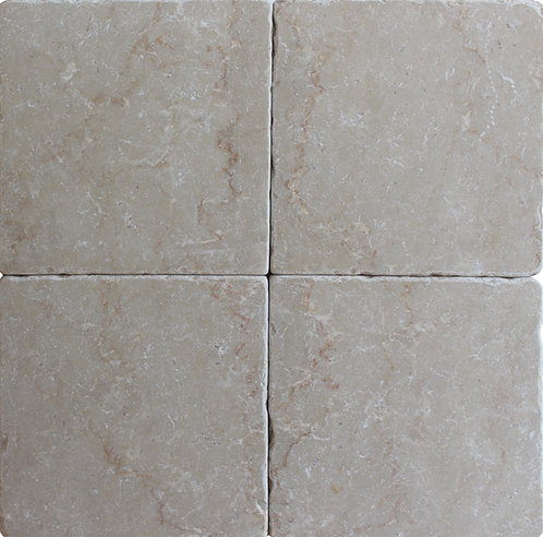 Botticino 6X6 Tumbled Marble