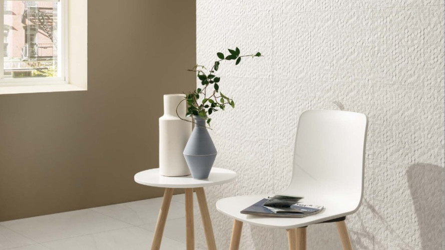 Earthstone Bianco Polished and Earthstone Bianco Hexagons