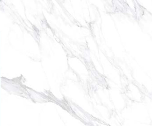 A large porcelain tile that looks like Calacatta marble with a honed or matte finish. ideal for wall and floor design.