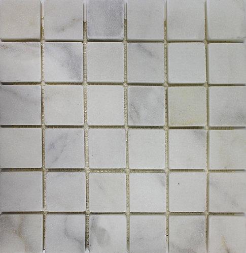 Sino Carrara tumbled marble 2x2