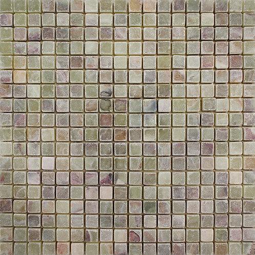 Light Green Onyx tumbled mosaics full square foot