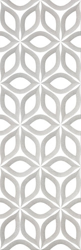 a floral large ceramic tile with texture and a satin finish. Beautiful for walls when you're design needs impact.