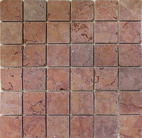 Rosso Verona 2x2 tumbled marble