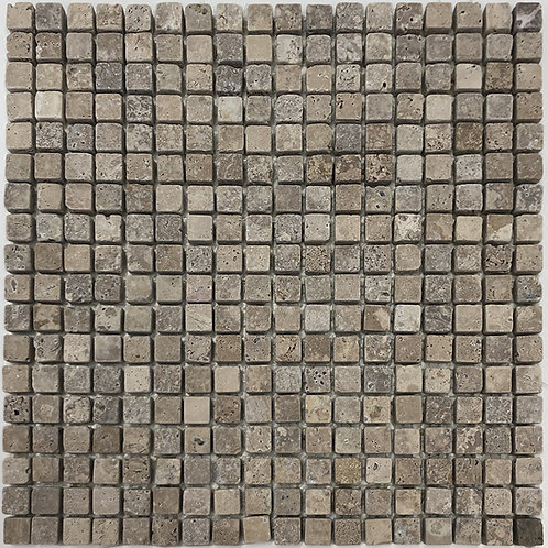 Use travertine noce tumbled mosaics on your shower floor, backsplash, fireplace surround or on any wall or floor