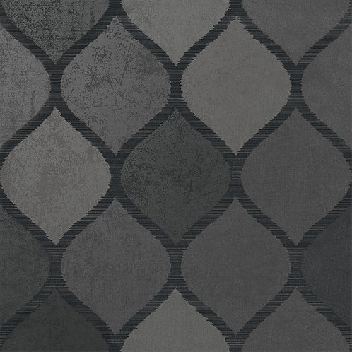 Clickety Clack Deco Nero is a contemporary tile with the patina of cement but durability of porcelain tile