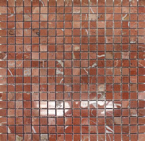 Rosso Verona polished mosaics full sheet photo