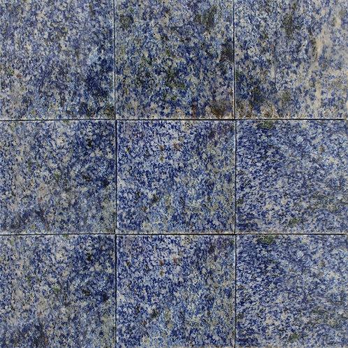 "4""x4"" Azul Bahia polished blue granite.  A luxurious, prestigious natural stone."
