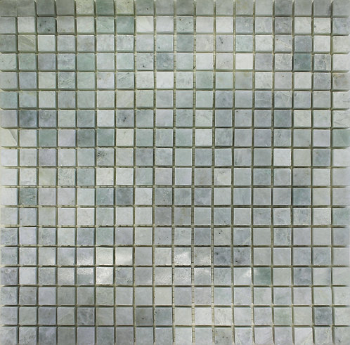 Ming green polished 15mmx15mm marble mosaic