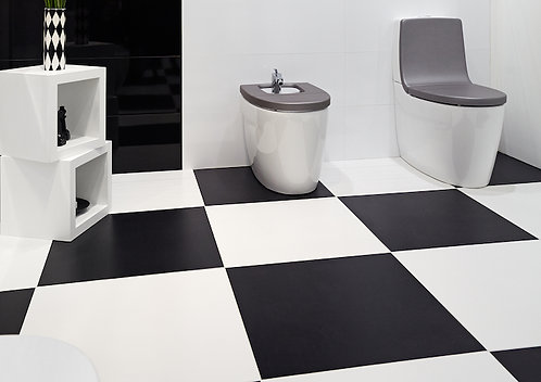 Pure Black Matte 24X24 Porcelain
