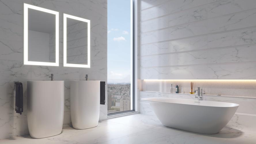 Italian White Carrara Matte 48x48_instal