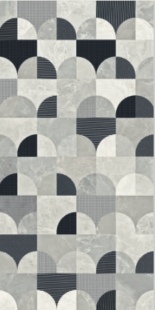 Joy Bianco Decor Art Matte is a very exciting geometric porcelain tile in a soft matte finish