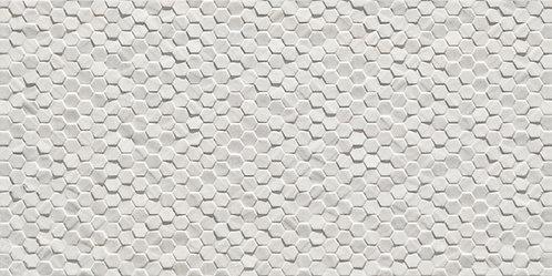 Earthstone Bianco matte full piece of hexagon 12x24 porcelain tile