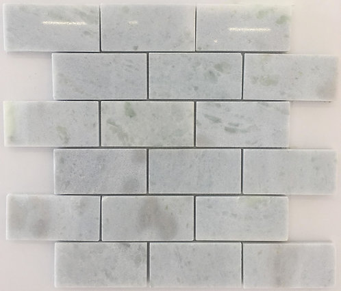 luxurious azul crystallino Italian quartizite is gorgeous as a subway tile and will add beauty wherever installed
