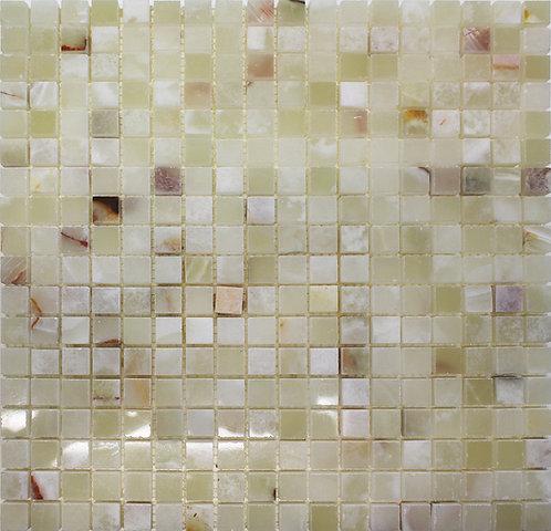 White Onyx mosaic polished full piece photo