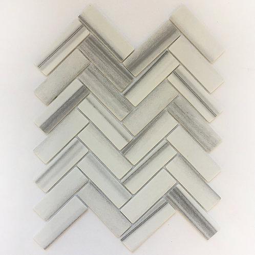 Herringbone pattern imitating Marmara marble - linear and clean