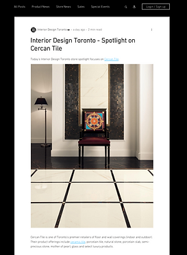 Versace porcelain tiles on the floor compimented by Versace mosaics on the wall. Posted on social media as interior Design Toronto spotlight on Cercan Tile