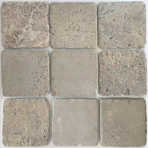 Travertine Olivillo 4X4 Tumbled