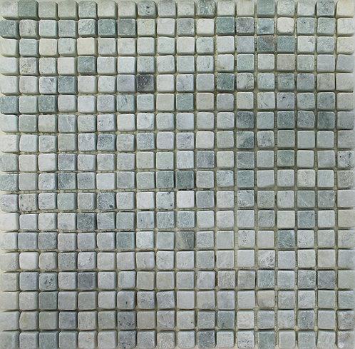 Ming Green tumbled mosaics 5/8x5/8