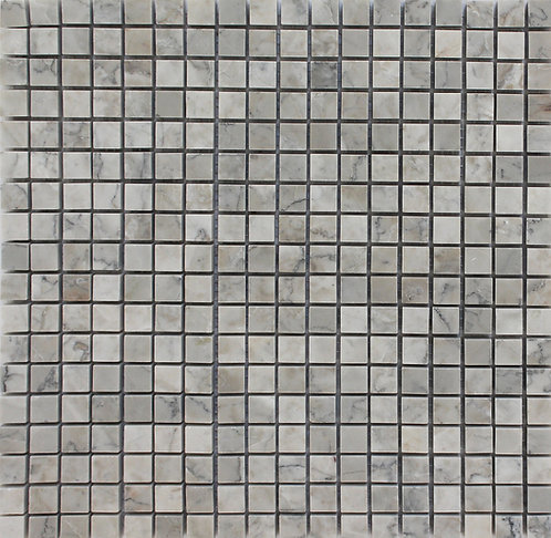 Temple Grey polished marble mosaics