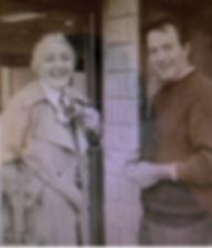 Alfredo with his sister Anna, outside the original Cercan Tile showroom. Circa 1970.
