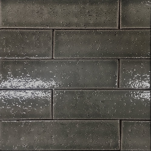 Crafted Brick Overcoat is a ceramic grey subway tile perfect for bathroom walls and kitchen backsplash