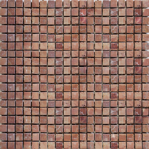 Rosso Verona tumbled marble mosaics